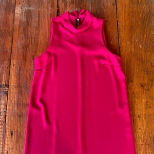 Deep fuchsia hot pink tunic dress